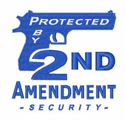 2nd Amendment Pistol embroidery design