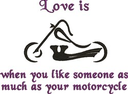 Abstract Motorcycle Lover embroidery design