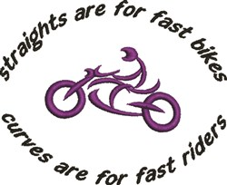Abstract Motorcycle Fast Rider embroidery design
