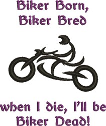 Abstract Motorcycle Biker Dead embroidery design