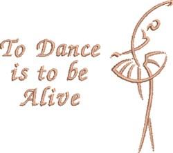 Dance Alive embroidery design