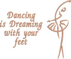 Dreaming Feet embroidery design
