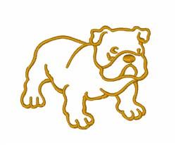 Bulldog Puppy embroidery design