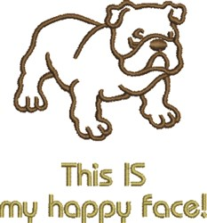 My Happy Face embroidery design