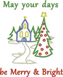Merry Church embroidery design