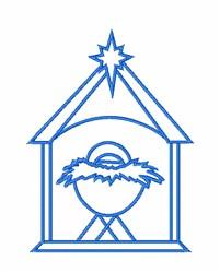 Christmas Manger embroidery design