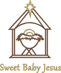 Sweet Baby Jesus embroidery design
