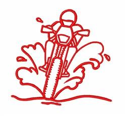 Dirt Biker embroidery design