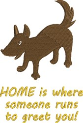 Home Sweet Home Dog embroidery design