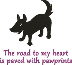 Puppy Dog Pawprints embroidery design