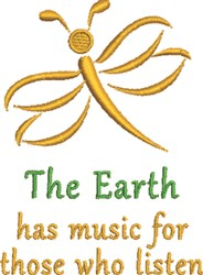 The Earth embroidery design