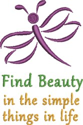 Find Beauty embroidery design
