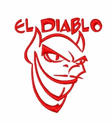 El Diablo Head embroidery design