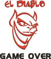 El Diablo Game embroidery design