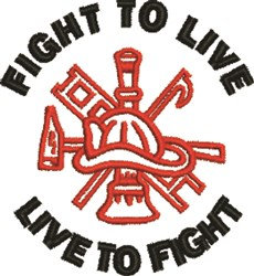 Fight To Live embroidery design