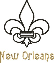 New Orleans embroidery design