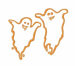 Halloween Ghosts embroidery design