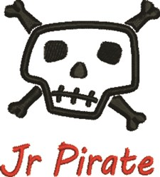 Jr Pirate embroidery design