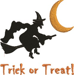 Trick Witch embroidery design