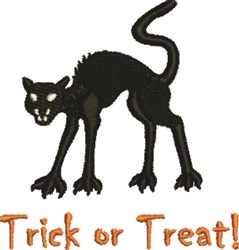 Trick Black Cat embroidery design