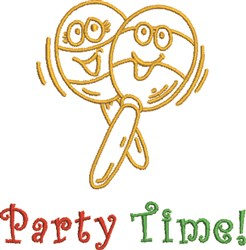 Happy Maracas Party Time! embroidery design