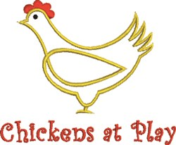 Chickens At Play embroidery design