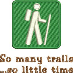 So Many Trails embroidery design