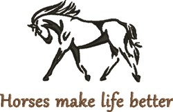Make Life Better embroidery design