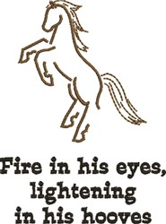 Fire In His Eyes embroidery design