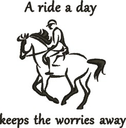 Ride A Day embroidery design