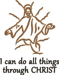 All Things Through Christ embroidery design