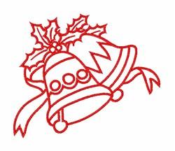 Christmas Jingle Bells embroidery design