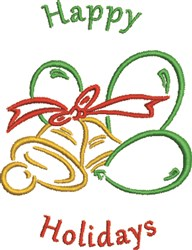 Holidays Bells embroidery design