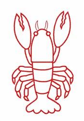 Sea Crayfish embroidery design