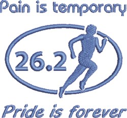 Pain Is Temporary embroidery design