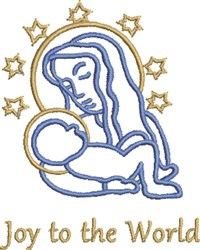 Mary Jesus Joy embroidery design