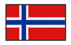 Norwegian National Flag embroidery design