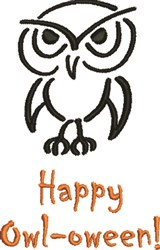 Happy Owl-Oween! embroidery design