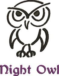 Night, Night Owl embroidery design