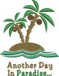 In Paradise embroidery design