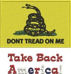 Take Back America embroidery design