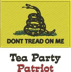 Tea Party Patriot embroidery design