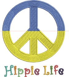 Hippie Life embroidery design