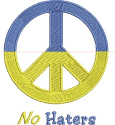 No Haters embroidery design