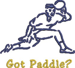 Got Paddle embroidery design