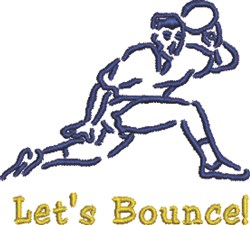Lets Bounce embroidery design