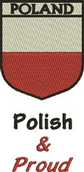 Polish & Proud embroidery design