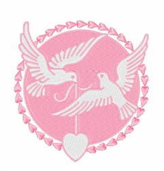 Doves Heart embroidery design