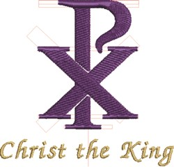 Christ The King embroidery design