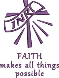 Faith Possible embroidery design